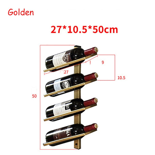 Wine Rack Wall Creative Portable Red Wine Glass Bottle Holder Goblet Stand Metal Iron Bar Accessories Christmas For Home