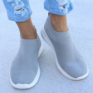 Women Flat Slip on White Shoes Woman Lightweight White Sneakers Summer Autumn Casual Chaussures Femme Basket Flats Shoes