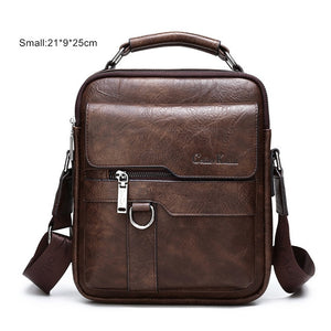 Luxury Brand Men Messenger Bags Crossbody Business Casual Handbag Male Spliter Leather Shoulder Bag Large Capacity