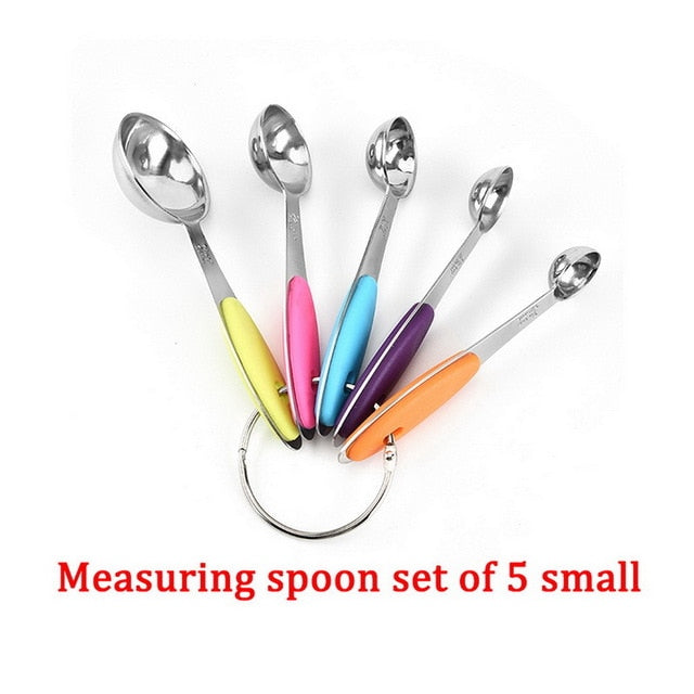 10 Piece Measuring Cups Measuring Spoons Set Stainless Steel Measuring Cup Spoon For Baking Tea Coffee Kitchen Measuring Tools