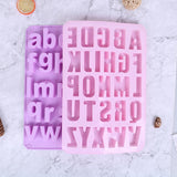 Alphabet concrete Molds Plaster Number Silicon Mold Concrete Capital Letter Mold english letters molds