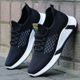 new sports shoes men's breathable casual mesh shoes comfort increase lace-up non-slip low-top running shoes