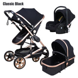 Baby stroller high landscape baby Cart 3 in 1 baby  stroller with car seat 2 in 1 baby stroller CE safety
