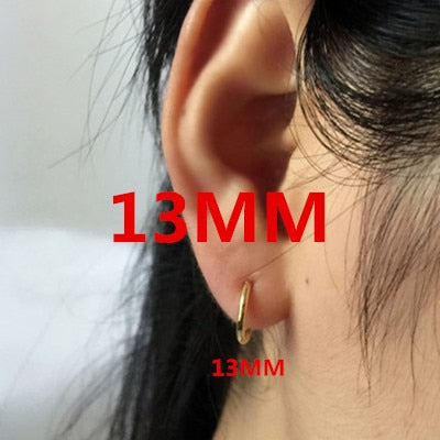 2PCS Unisex Punk Clip on ear Without piercing No hole Fake Body Nose Lip Small Hoop gold Rings Jewelry Earrings for women men