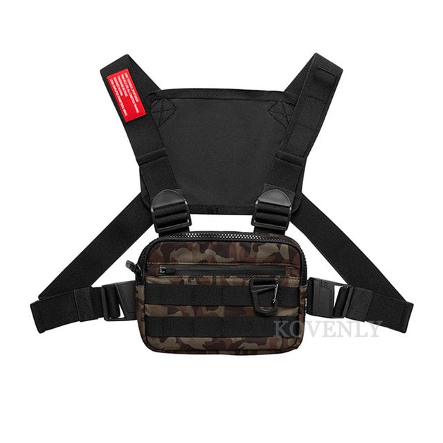 New Chest Rig Men Bag Casual Function Outdoor Style Chest Bag Small Tactical Vest Bags Streetwear For Male Waist Bags Kanye