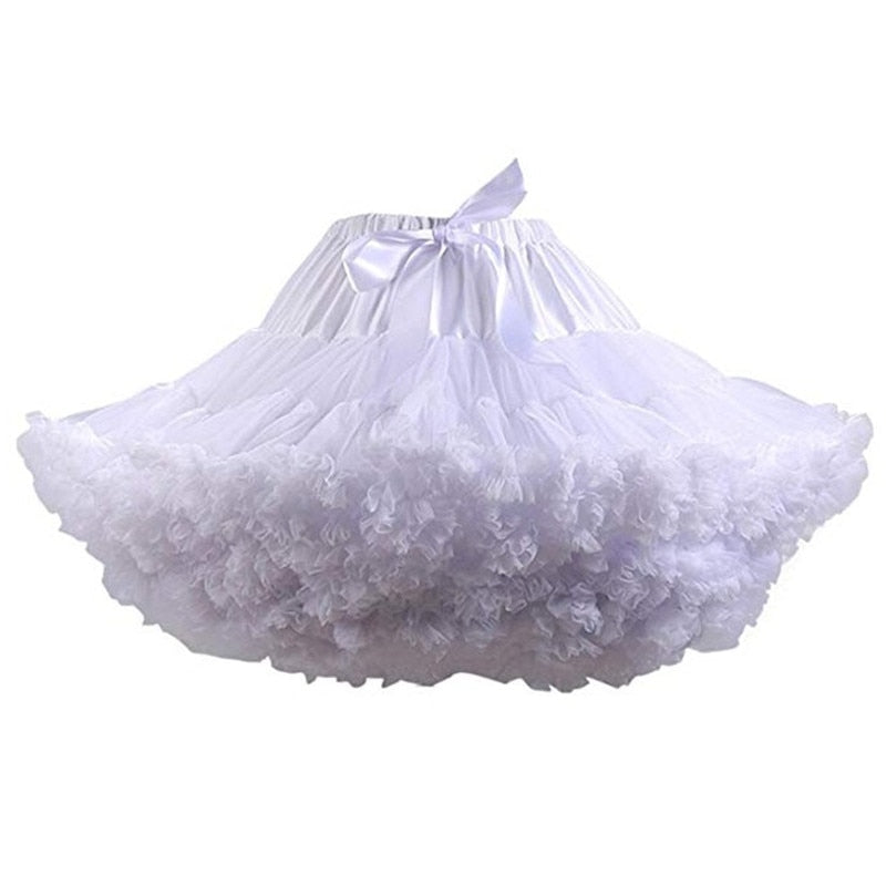 New Arrival Petticoats Wedding Bridal Crinoline Lady Girls Underskirt for Party White Blue Black Ballet Dance Skirt Tutu