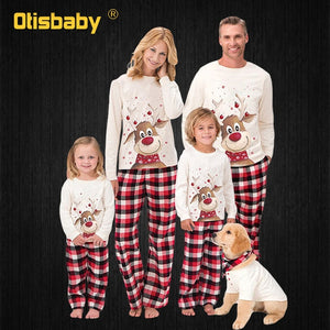 Family Matching Christmas Pajamas New Year Mom and Daughter Mother Daddy Baby Girl Boy Family Family Look Christmas Clothes