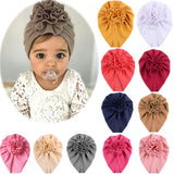 Knot Bow Baby Headbands Toddler Headwraps Baby Flower Turban Hats Babes Caps Elastic Hair Accessories