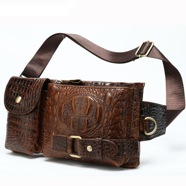 Genuine Leather Waist Packs Men Waist Bags Fanny Pack Belt Bag Phone Bags Travel Waist Pack Male Small Waist Bag Leather