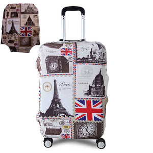 Thicker Blue City Luggage Cover Suitcase Protective Cover for Trunk Case Apply to 19''-32'' Suitcase Travel Accessories