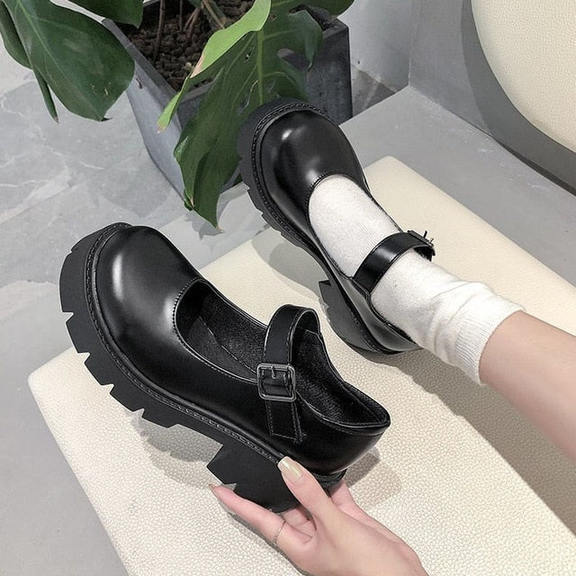 Japanese Style Lolita Shoes Women Vintage Soft Sister Girls High Heels Waterproof Platform College Student Cosplay Costume Shoes