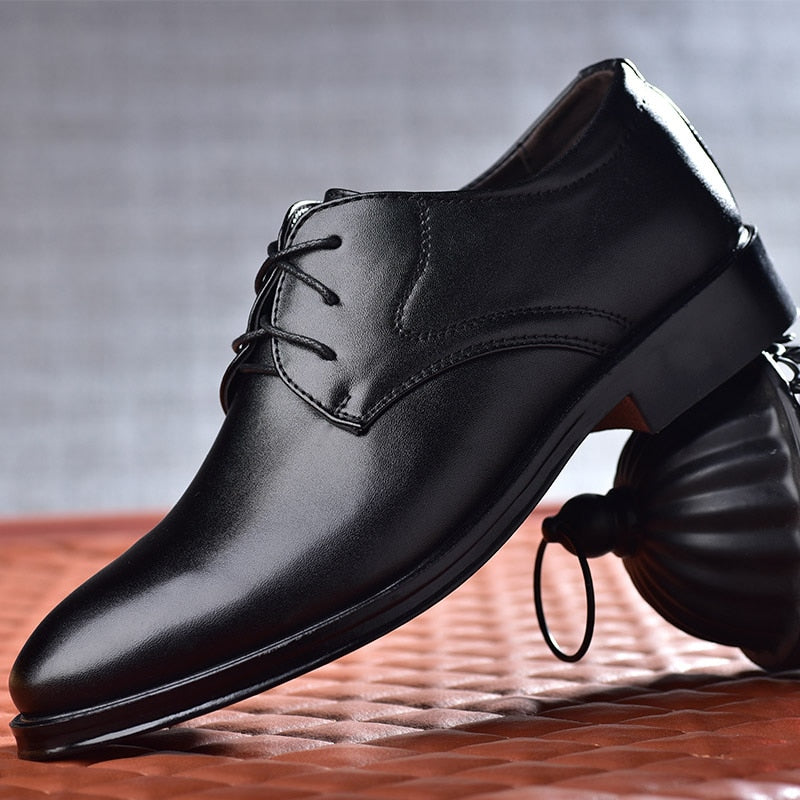 new men dress shoes high quality leather formal shoes men big size 38-48 oxford shoes for men fashion office shoes men
