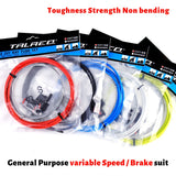 6Colors MTB Mountain Road Bike Bicycle Brake Cable Gear Front Rear Brake Gear Cable Shifters 4mm Shift Set Tube Kits