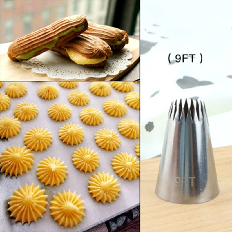 Large Icing Piping Nozzles Russian Nozzles Pastry Tips Cookies Cake Decorating Tools Tips Cream Fondant Pastry Nozzles