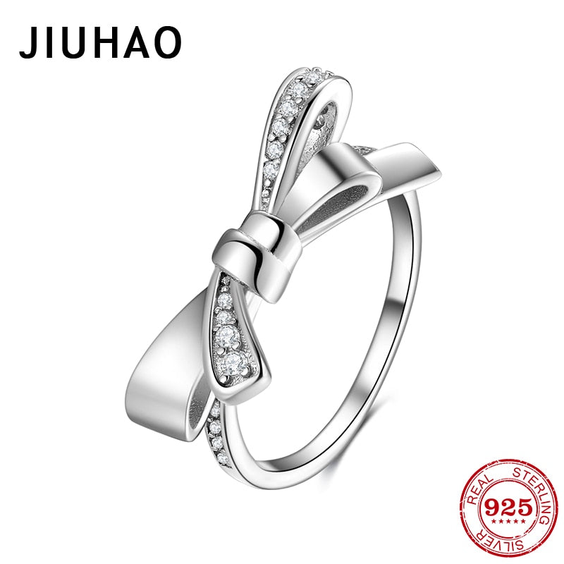 Stackable Finger Ring for Women Genuine 925 Sterling Silver High Quality Rings for Wedding Statement Jewelry