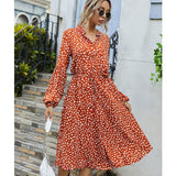 Jessie Vinson Dots Print White Summer Dress Women Short Sleeve Tunic Midi Dress Casual  Boho Beach Dress