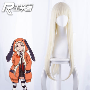 Cosplay Wigs Black Straight Heat Resistant Synthetic Hair Perucas Cosplay Wig