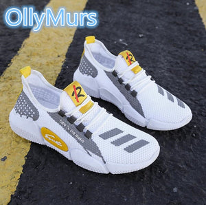 Hot Sale Four Seasons Running Shoes Men Lace-up Athletic Trainers Zapatillas Sports Shoes Men Outdoor Walking Sneakers
