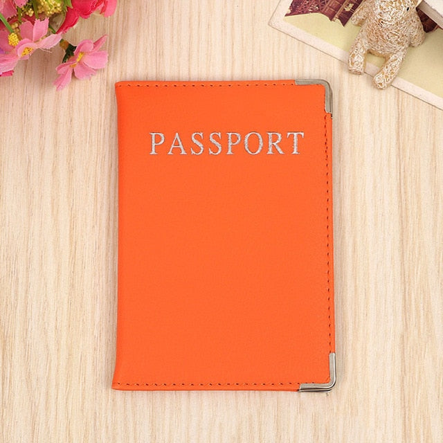 PU Leather Passport Cover Cute Business Card Holder Pouch for Travel Wallet Russian Netherland Case Women Pink