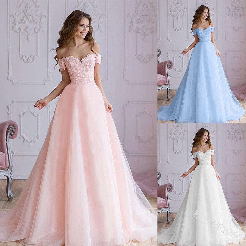 Luxury Bridal Wedding Dress Plus Size Fashion Appliques Lace Ball Gown Dress