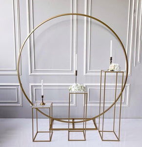 metal circle Wedding arch props  backdrops single arch for flowers balloons sash decor rack outdoor lawn flower door rack
