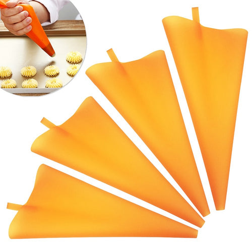 10/12/14/16Inch Orange Decorated Flower Bag Squeeze cream butter jam bag Strong and soft Baking supplies Washable and reusable