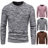 autumn new foreign trade knitted sweater variegated men's sweater bottoming shirt