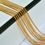 Genuine 18K Yellow Gold Necklace For Women Fine Jewelry Real Pendant Chain Wedding Party Jewelry