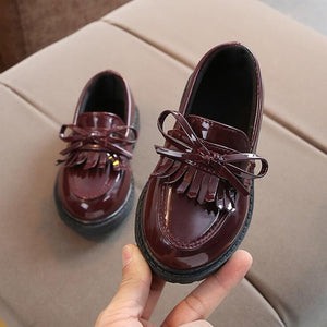 Brand New Spring Autumn Boys Girls Children PU leather shoes fringe kid oxford brand tassel bow flats shoes