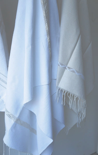 BERBER FOUTA TOWEL WITH EMBROIDERY