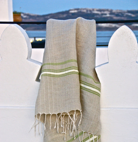 JUTE STRIPE THROW