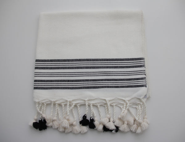 SADEK LARGE STRIPE HAND TOWEL