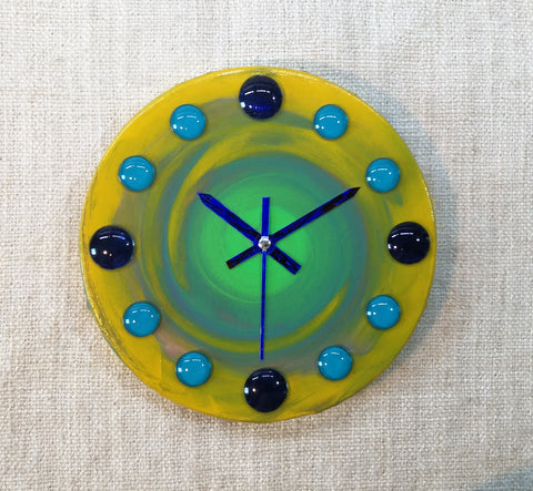 Cosmic Touch 20cm Canvas Clock by John Davis