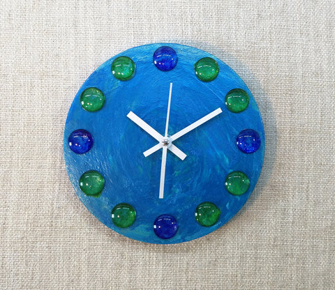 Deep Blue Sea 20cm Canvas Clock by John Davis