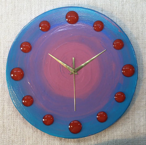 Purple Haze 30cm Canvas Clock by John Davis