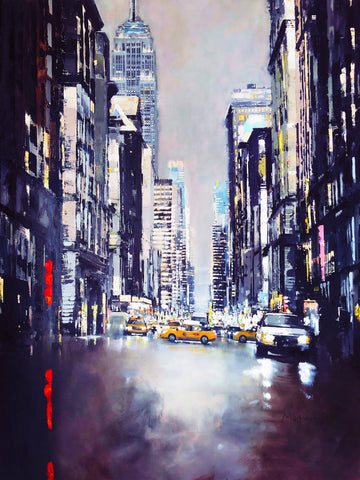Empire State Building 5th Avenue (Blue Metal) by Jose Martinez