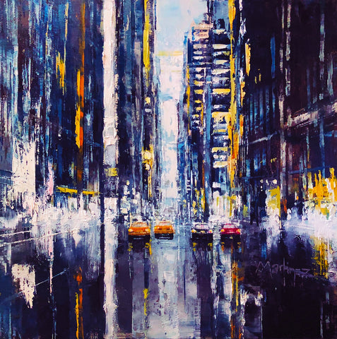 New York Screams (Blue Metal) by Jose Martinez