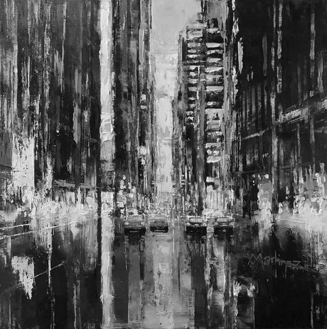 New York Screams (Black and White) by Jose Martinez