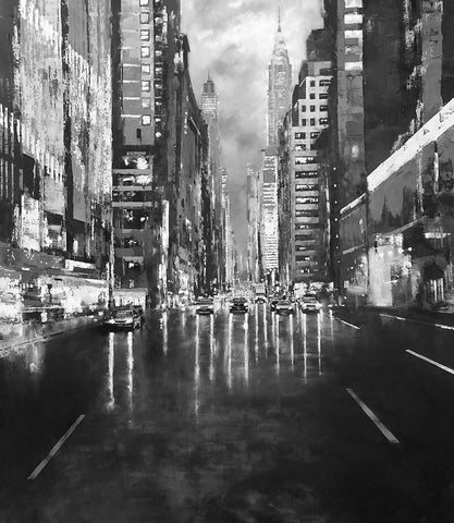 Urban Autumn-Lexington Avenue (Black and White) by Jose Martinez
