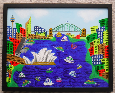"""Wishing you were here-Sydney #1"" by John Davis (54x44cm)"