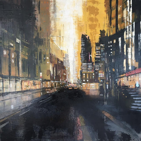 Hot Night in New York City (Oil on Canvas) by Jose Martinez