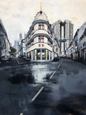 Keong Siak Road - Singapore (Original) Limited Edition Print by Jose Martinez