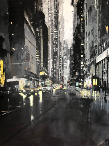 Somewhere in New York City (Original) Limited Edition Print by Jose Martinez