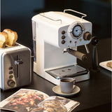 Italian Pressure Steam 15Bar Espresso Coffee Machine -  Retro Style Semi-automatic, Type with Milk Foam