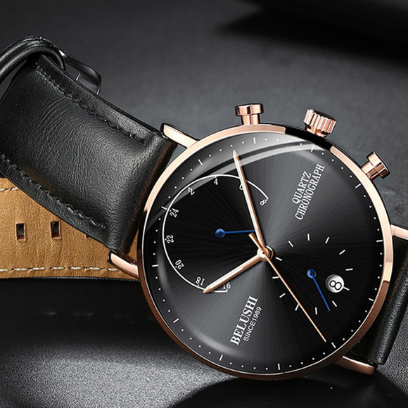 2019 Man Business Wrist Watch Men Watches Chronograph Luxury Brand Male Clock Quartz Wristwatch Male Watch Men Relogio Masculino