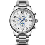 CARNIVAL Blue Hand Multifunction Automatic Mechanical Men Watch, Auto Date, Complete Calendar, Moon Phase, Water Resistant