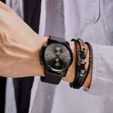 CHEETAH -Men's Chronograph, Quartz Wristwatch, Leather Band, Waterproof