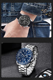 BENYAR Men Watch Silicone Strap, Waterproof ,Sport Quartz Chronograph, Military Style Watch