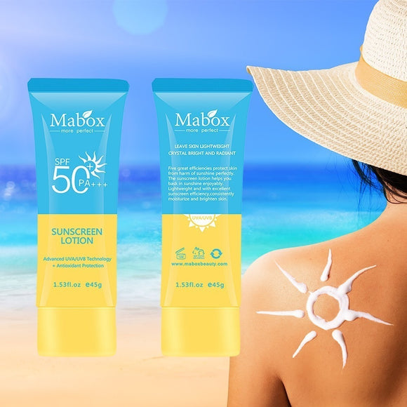 MABOX Natural SPF 50 Cream, Anti Acne, Hydrating Whitening, Day Cream, Oil-Control,  Anti Aging, Wrinkle Collagen, Sunscreen Cream