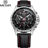 MEGIR Mens Shock Resistant wristwatch, Luminous Hands, Water Resistant